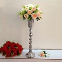 Silver Metal Wedding Flower Vases Table Centerpiece