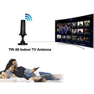 Image 2 - Hd デジタル DVBT2 用 vhf バンド iii 174 230 mhz の uhf 帯: 470 862 mhz 高利得屋内デジタルテレビアンテナ支持ハイビジョン