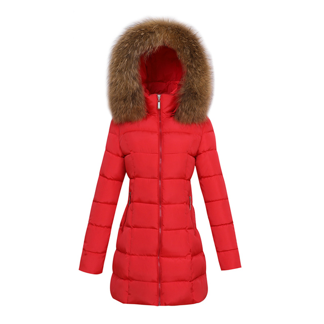 New 2019 autumn Winter women fur collar Long hoodie Down Jacket Plus Size Hooded cotton thick warm Windproof Parkas Female
