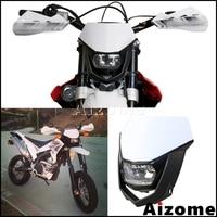 Farol universal para motocross  farol para motocross dirt bike supermoto off road h4 35w kx klx yzf xr crf yz wr yzf
