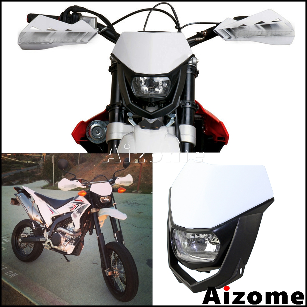 Universal Motocross Headlight Fairing Dirt Bike Supermoto Off Road H4 35W Headlight Headlamp For KX KLX YZF XR CRF YZ WR YZF