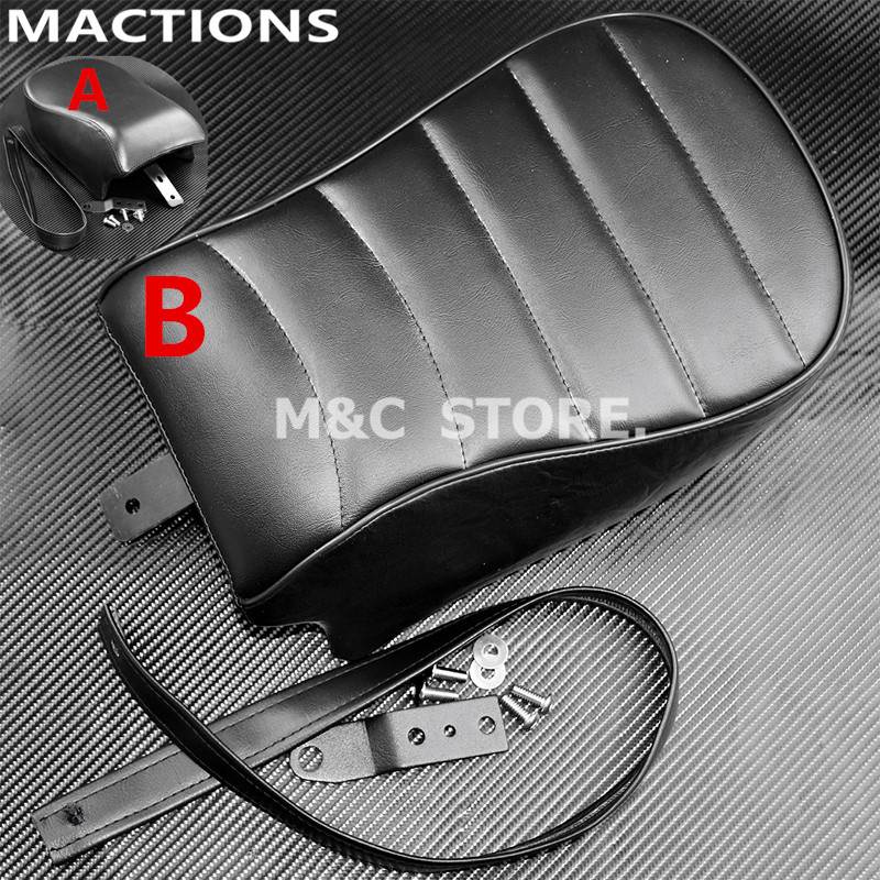 Motorcycle Rear Passenger Pad Seat Black Leather For Harley Sportster Iron XL883N Forty Eight 48 XL1200V 16-17 Motorcycle Rear Passenger Pad Seat Black Leather For Harley Sportster Iron XL883N Forty Eight 48 XL1200V 16-17