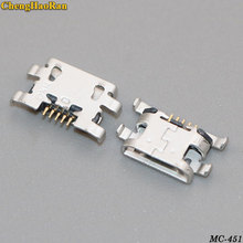 ChengHaoRan 10-50pcs micro mini USB jack socket connector charging port dock plug female 5 pin For Homtom HT10 Doogee X20