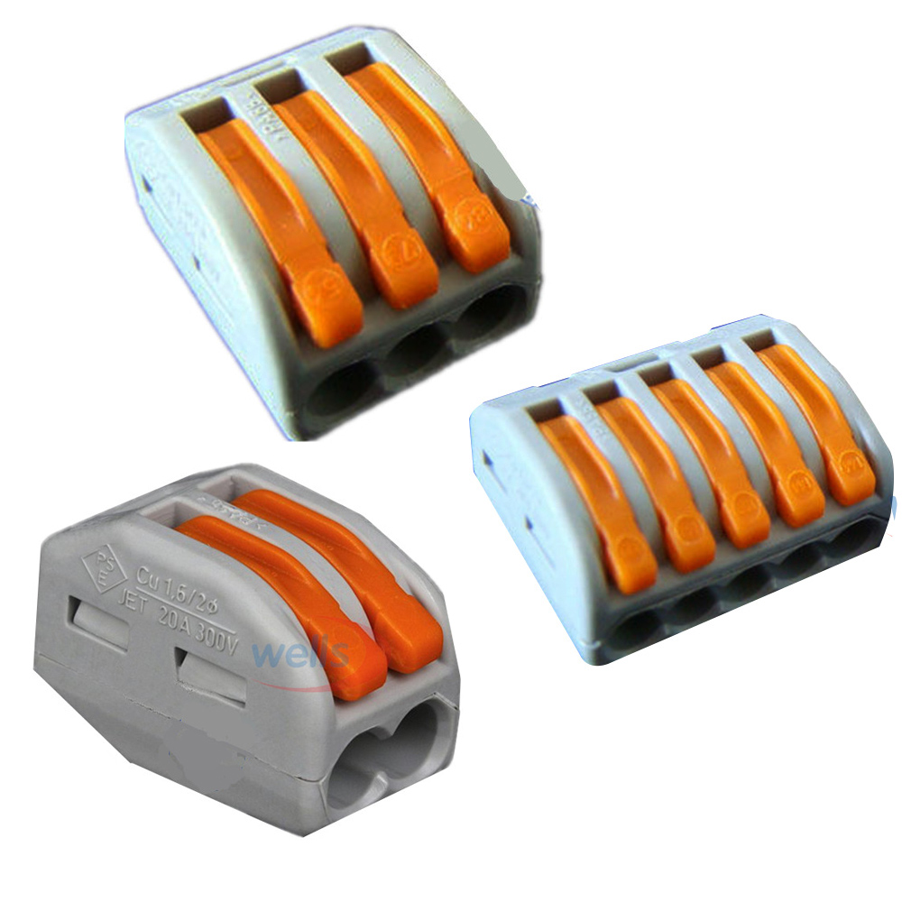 LED 1-5pcs Wago connector PCT-212 /213 /215 Universal Compact Wire 2pin/3pin/5pin Connector Conductor Terminal Block