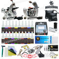 Tattoo Kit Machines 2 guns 20 color Inks Power supply needles set equipment  HW-1GD