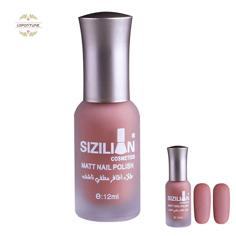 NEW Makeup 12ml Matte Dull Nail Polish Fast Dry Long Lasting Nail ...