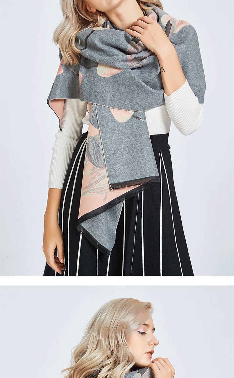 cashmere lã cachecol para mulheres marca de
