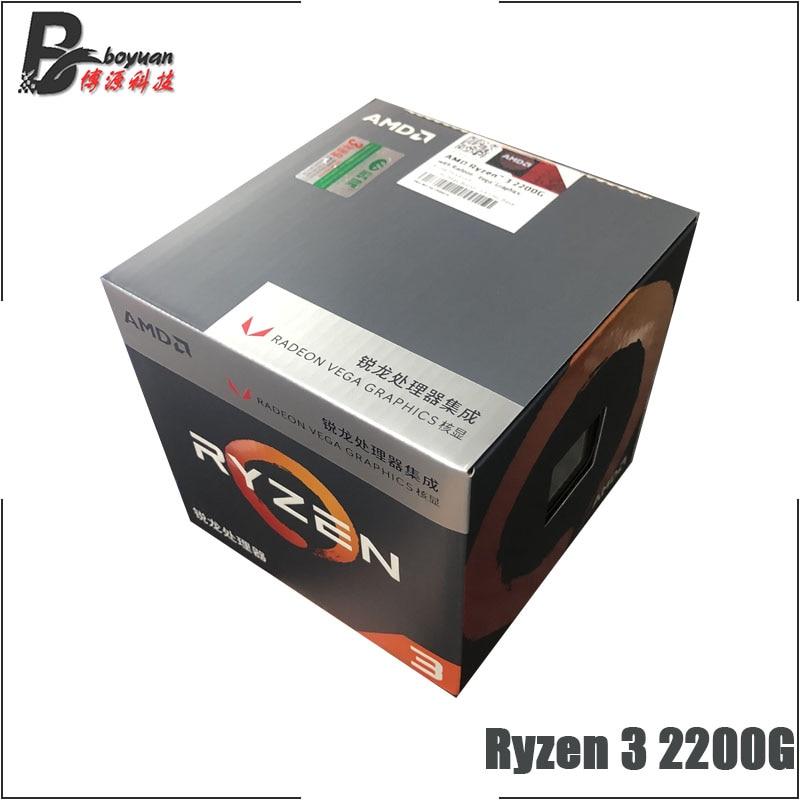 AMD Ryzen 3 2200G R3 2200G 3 5 GHz Quad Core Quad Thread CPU Processor L2