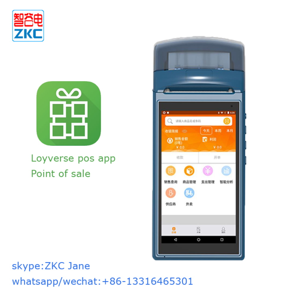 US $105 0  Android 5 1 point of sale pos device with 3g wifi bluetooth nfc  built in printer and loyverse pos software-in Printers from Computer &