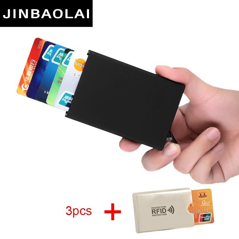 2018 New Travel Card Wallet Automatic Pop Up ID Credit Card Holder Men Women Business Card Case Stainless Steel Metal Clip Boxes цены