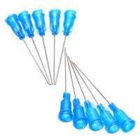 """10 pièces aiguilles de seringue bleues aiguilles de distribution émoussées aiguilles de seringue 1.5 """"22 jauge Luer Lock pour liquide"""
