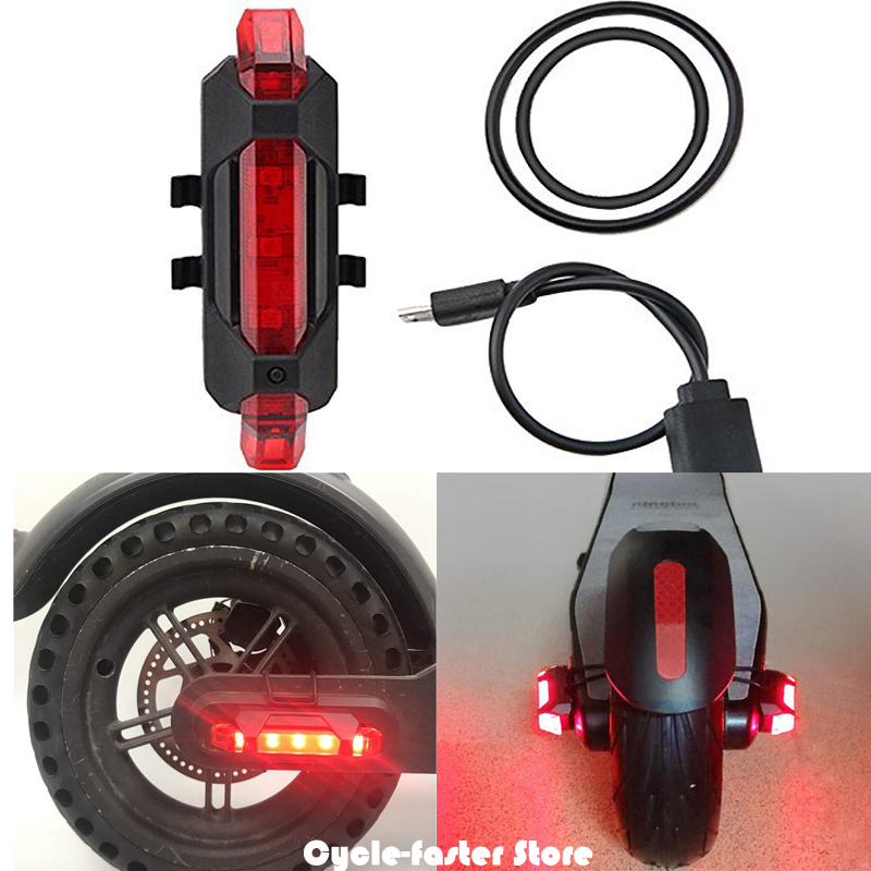 1 Set Electric Scooter Taillight for M365 1S Rear Tail Safety Warning Light