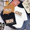 Leopard Print Women Summer Cool T-shirt Female Tops 1