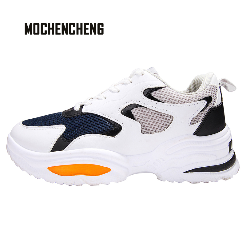 Hommes 2019 SS nouveau papa chaussures baskets Chunky Wedge haute rue décontracté maille supérieure à lacets haut respirant haute qualité chaussures