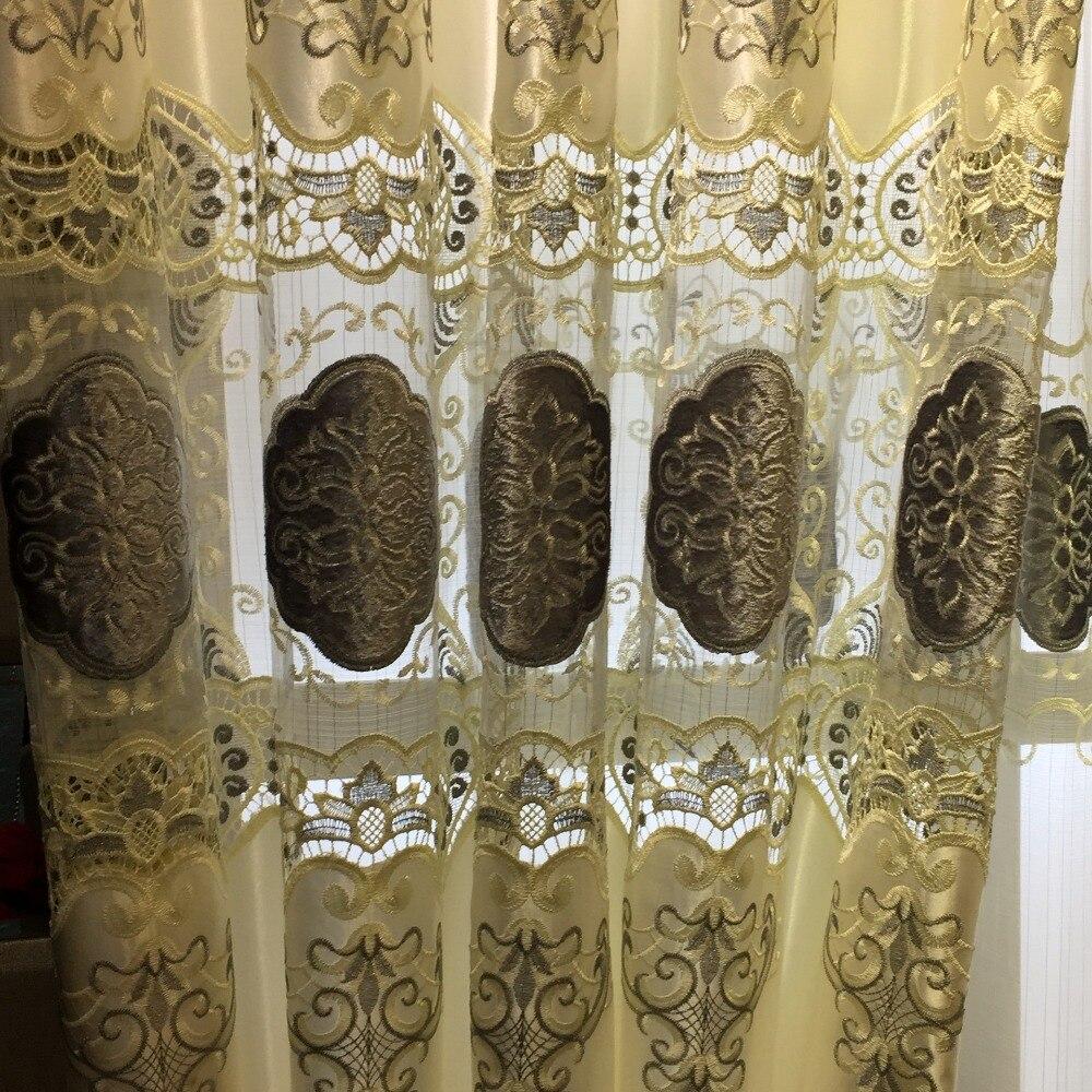 100% Polyester Avrupa Lüks Perdeleri nakış perde Salon / Mutfak - Ev Tekstili - Fotoğraf 4