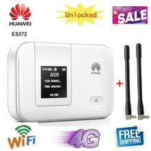 Разблокированный HUAWEI E5372 E5372s-32 4G 150 Мбит/с LTE MiFi Cat 4 карманный мобильный WiFi беспроводной маршрутизатор с точкой доступа разблокированный
