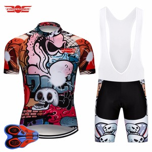 Image 4 - Crossrider 2020 Funny Cycling Short Jersey 9D bib Set MTB Bike Clothing Breathable Bicycle wear Mens Maillot Culotte