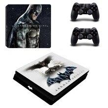 DC Batman and Superman PS4 Slim Skin Sticker
