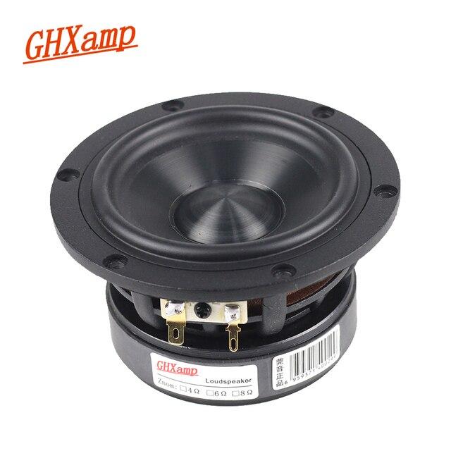 GHXAMP diamentowe ceramiczne 4 cal 120MM głośnik niskotonowy W połowie głośnik basowy jednostki 4Ohm HIFI duży stal magnetyczna 30 50W 74 8000HZ DIY 1PC