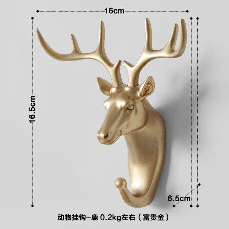 Lovely Resin Golden Animal Horse//Elephant//Deer//Rhinos//Giraffes//Goat//Elk Hook
