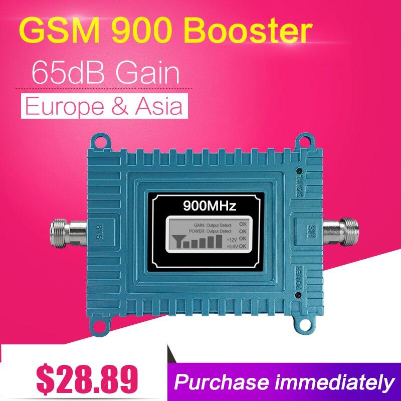 Repeatnet LCD Display GSM 900 65dB Gain GSM 900mhz Cellphone Signal Booster ALC Mobile Cullular Repeater Repetidor Sinal Celular