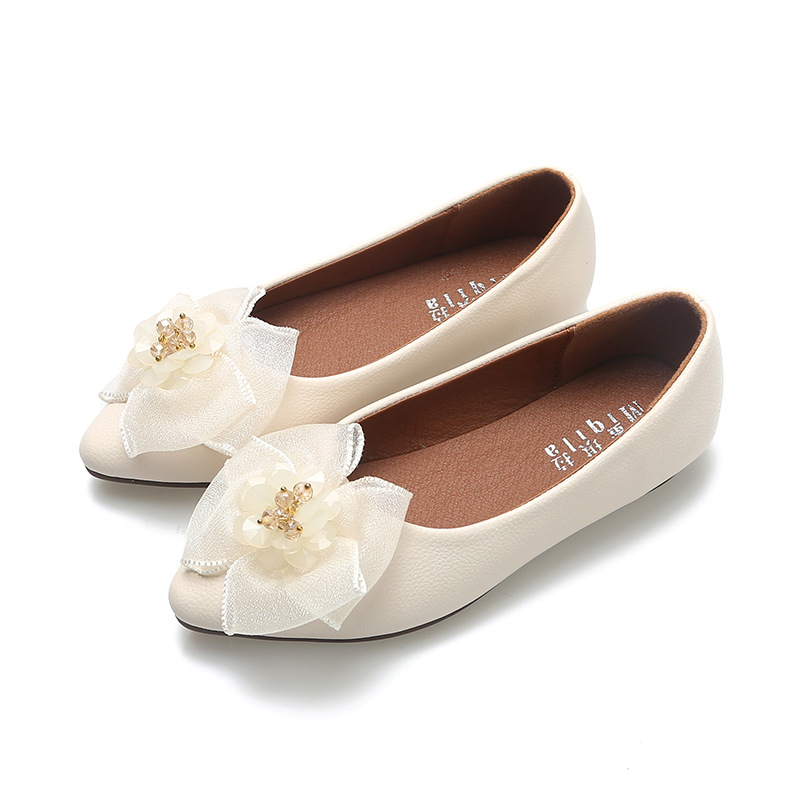 Children 39 s flat shoes Butterfly knot Shoes for girl Princess Pink Party Shoes Girls Bowknot Flats Point toe Kid Pearl Dance Shoe