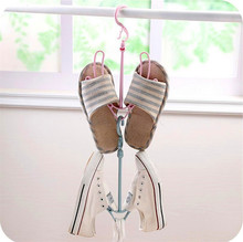 Yooap Drying Shoes Rack Non-Deformable Easy to Dry Shoe Stretcher Rotatable Double Hook Hanger Organizer