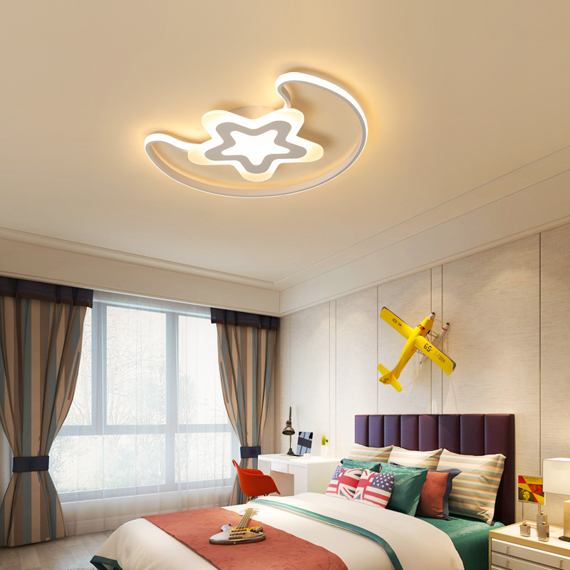 White modern Led Chandelier lighting for bedroom Children's room iron acrylic lustre luminaria lampadario Ceiling Chandelier цена