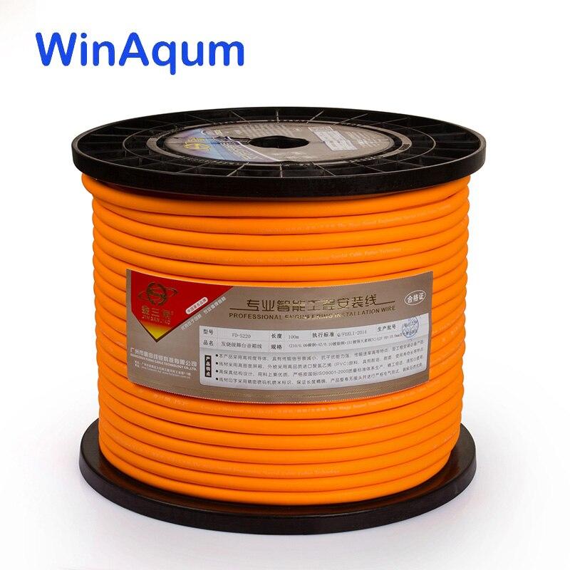WinAqum Silver Plated Copper Wire HiFi Audio Speaker Cable For DIY WA-210 / 220