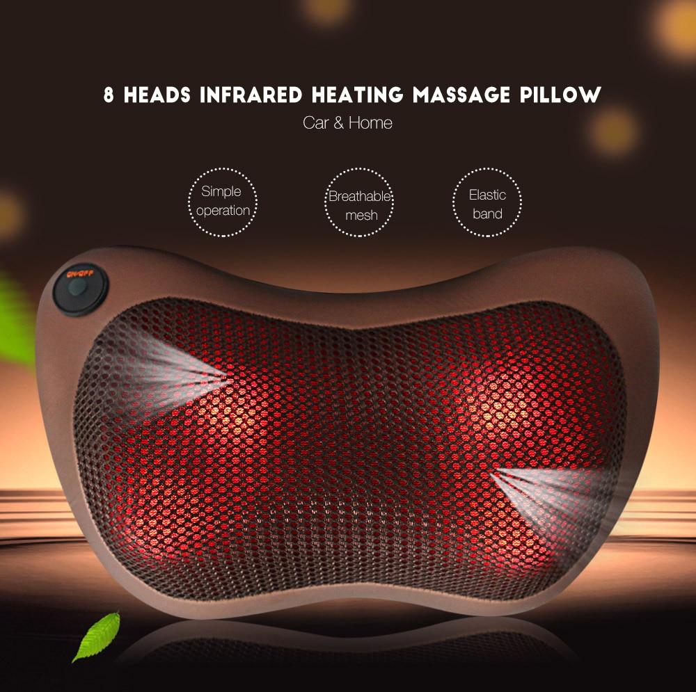 TJK TT - 602B 8 Heads Healthy Infrared Heating Electric Car Home Massager Pillow Automobiles Home Dual-use hankook ah11 8 25r16 128 126l tt