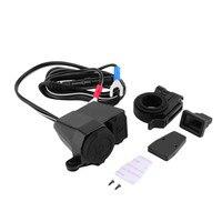 New DC 12v Waterproof Motorbike Motorcycle 5V USB Power Port Cigarette Lighter Adaptor Integration Outlet Socket
