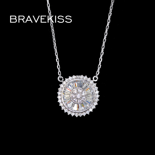 Bravekiss western charms necklace chain for women cz stone crystal bravekiss western charms necklace chain for women cz stone crystal round plate necklaces pendants collare mujer aloadofball Image collections