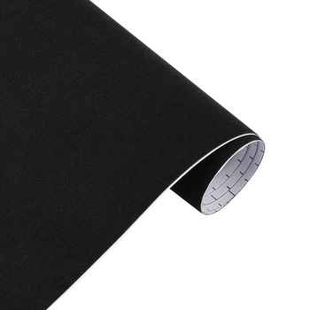10/30*100cm Suede Vinyl Film Velvet Fabric Car Change Color Sticker Adhesive DIY Decoration Decal Auto Motorcycle Accessories - Black, 50x600cm