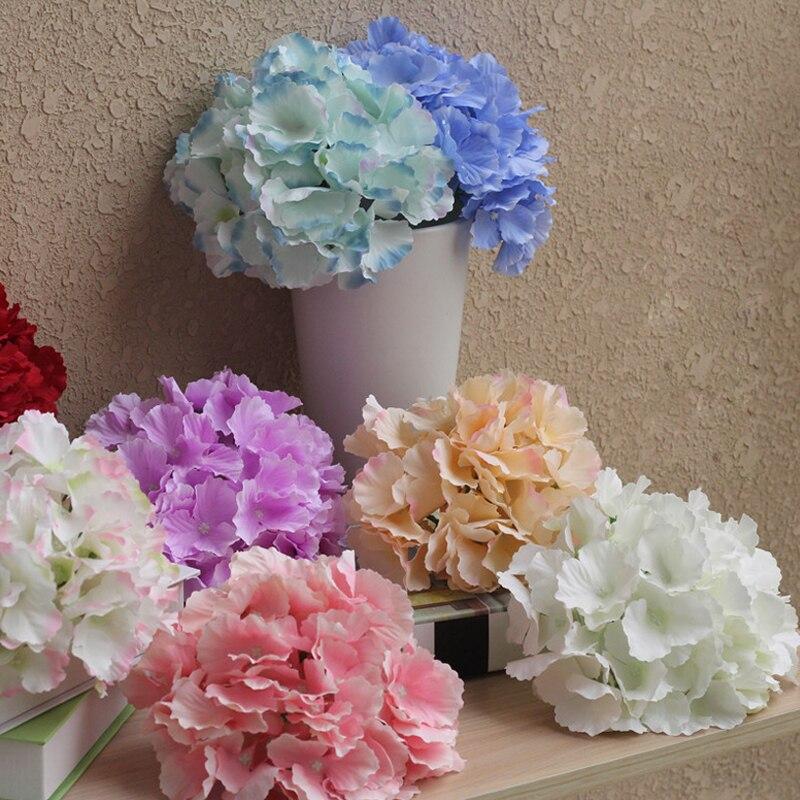 20 pièces capitules diamètre 20 cm Fleurs Artificielles Hortensia fleurs 11 couleurs décorations pour La Maison pour la fête de mariage photographie