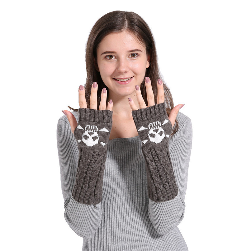 Mittens Womens Free Knitting Woman Winter Warm Knitted Long Twist Plus Thick Half Finger Gloves Mittens 30SP38