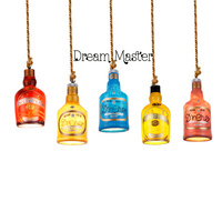 Single Head Small Chandelier Chandelier Bottle Bar Cafe Cafe Bar Retro Lamp Art Creative Personality