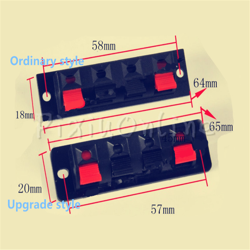 1 Pc ST017b W4P-1 Terminal Audio Buttons Switch Spring Terminal Block Four Test Clip Quadruple Clamp Part Tool Sell At A Loss