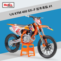 1Pcs Maisto 1:6 KTM 450 SX F Diecast Metal Model Sport Race Motorcycle Model Motorbike For Collectible