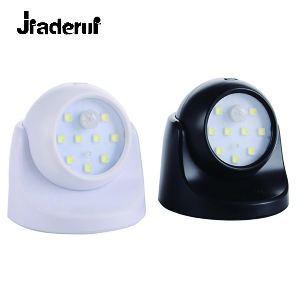 Jiaderui 360 Rotation Motion Sensor Security Baby Night Lamp Door Light Auto PIR Detector IR Infrared LED Bulb for Home Bedroom 1 8w 220v led motion sensor night light for home pir infrared 10 led lamp bulbs for bedroom energy saving light bulb cool white