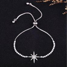 Фотография LZX Classic Star Shape Crystal Beads Adjustable Bracelet White Gold Color Zirconia Stone Bracelets For Women Fashion Jewelry