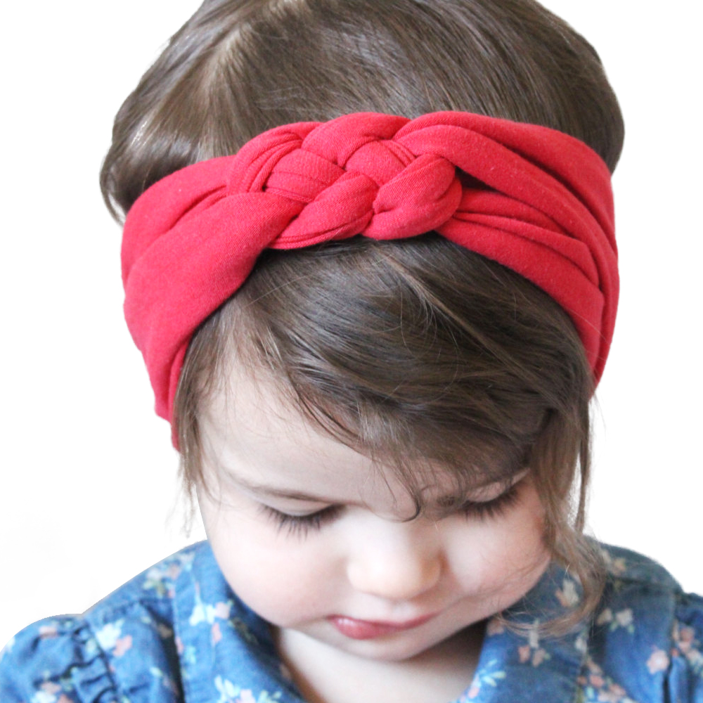 Cute Solid color Headband Knot Hair Bands Elasticity Hairbands 100% Cotton Headband Hair Accessories KT003 jrfsd cute solid color headband knot hair bands elasticity hairbands 100