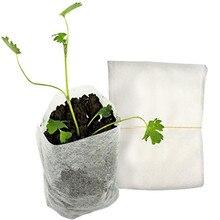 100 шт. нетканые мешки для питомника мешки для растений ткань рассады горшки eco-friendly аэрации посадочные мешки ткани сад 8x10 см