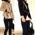 Loose Women Curto Cardigan Suits Brasão Jacket Bolero Irregular Shrug Tops CY0827 H34