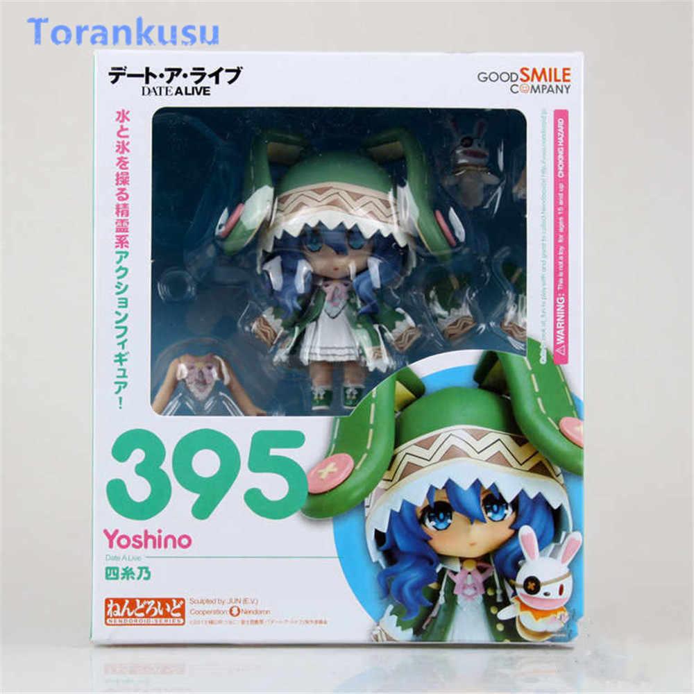 Data A Vivo Yoshino Anime Figura de Ação Collectible Figuras Nendoroid #395 PVC Modelo Boneca Kawaii Brinquedos Quentes Para Crianças presente PG