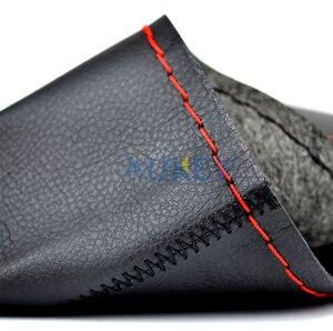 Image 5 - Ultrafine Fiber Leather Hand Sewing DIY Car Steering Wheel Cover Steering wheel Covers For Ford Focus 2 3 Kia Benz Smart Nissan