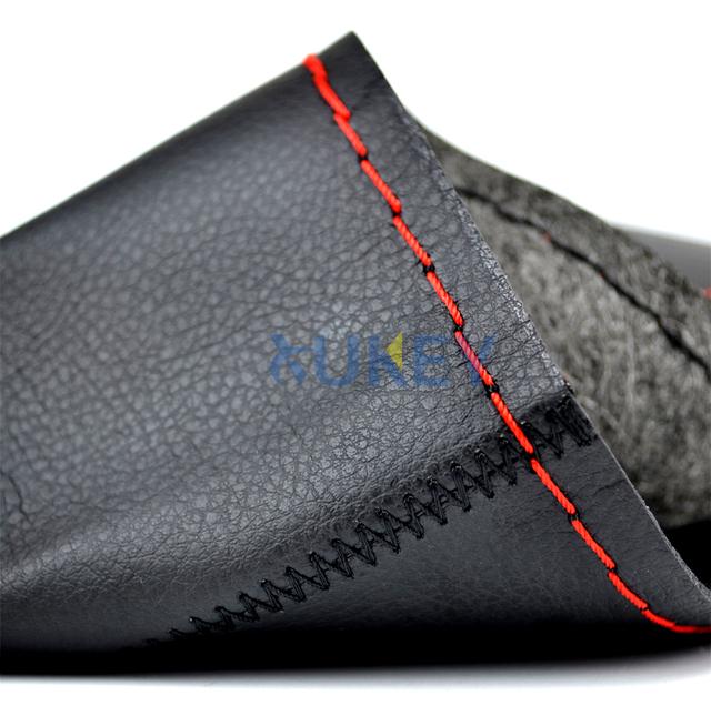 Ultrafine Fiber Leather Hand Sewing DIY Car Steering Wheel Cover Steering-wheel Covers For Ford Focus 2 3 Kia Benz Smart Nissan