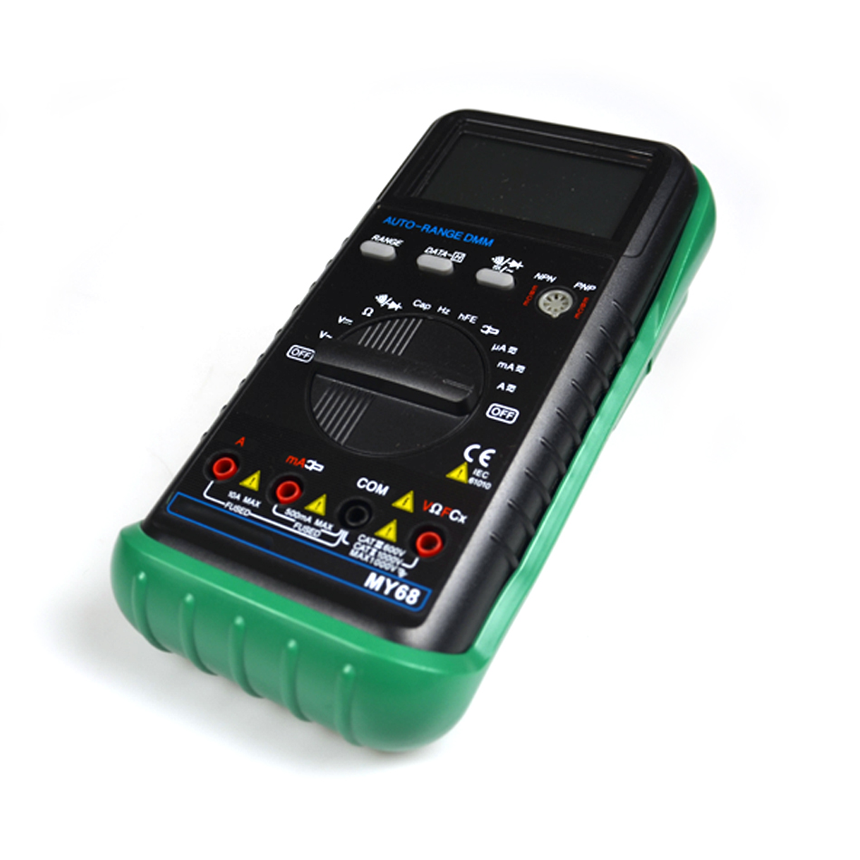 Handheld LCD Auto/manual Range DMM Digital Multimeter DC AC Voltage Current Ohm Capacitance Frequency Meter MY68