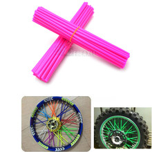 72 Pic Motorcycle Dirt Bike Wheel Rim Spoke Skins Covers Wrap Tubes Decor Protector FOR YAMAHA R6 2000 R3 Husqvarna 701 BMW