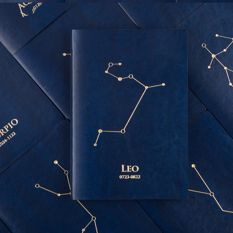 Creative A5 Twelve constellations Hardcover Notebook Fashion trends personal Diary agenda Notebook Account book Stationery Gift jugal creative trend personal diary a5 notebook grid page and horizontal page hardcover notebook japanese school supplies