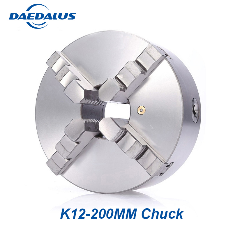 8 inch Lathe Chuck K12 200mm drilling chuck 4 Jaw chuck Self centering Hardened Steel Scroll